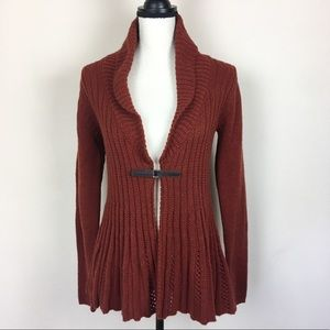 Twins Made in Italy Knit Flare Cardigan Sweater